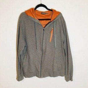 Eddie Bauer Full Zip Hooded Jacket Size XXL